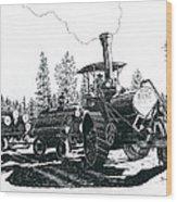 Best Steam Traction Engine Wood Print