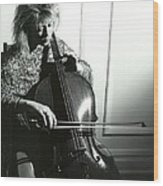 Beth And Oiled Cello Wood Print