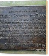 Bethesda Fountain And Terrace Wood Print
