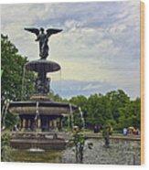 Bethesda Fountain II Wood Print