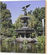 Bethesda Fountain Iv - Central Park Wood Print