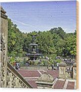 Bethesda Fountain V - Central Park Wood Print