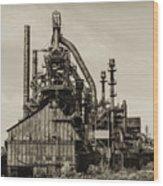 Bethlehem Pa Steel Plant   Wood Print