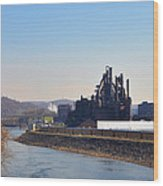 Bethlehem Steel And The Lehigh River Wood Print