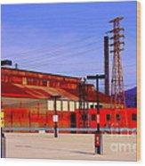 Bethlehem Steel Buildings Wood Print