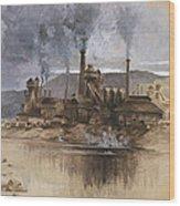 Bethlehem Steel Corporation Circa 1881 Wood Print