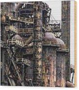 Bethlehem Steel Series Wood Print by Marcia Lee Jones