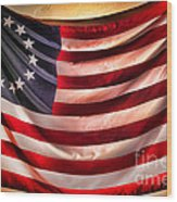 Betsy Ross Flag Wood Print