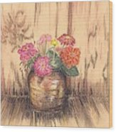 Betsy's Flowers 2 Wood Print