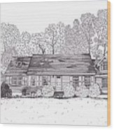 Betsy's House Wood Print by Michelle Welles