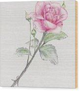 Betsy's Rose Wood Print
