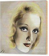 Bette Davis Eyes Wood Print by Arne Hansen
