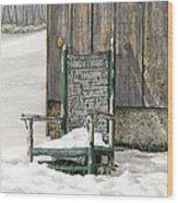 Better Days - Winter Wood Print