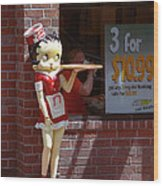 Betty Boop 1 Wood Print