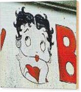 Betty Boop Herself Wood Print