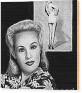 Betty Grable Wood Print by Peter Piatt