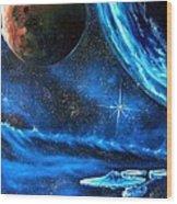 Between Alien Worlds Wood Print by Murphy Elliott