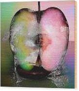 Between My Apples  Wood Print
