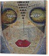 Between Worlds - Masked Series Wood Print