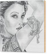 Beutiful Indian Actress Wood Print
