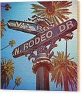 Beverly Hills California Wood Print