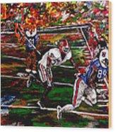 Beware Of The Tiger - Auburn Vs Georgia Football Wood Print by Mark Moore