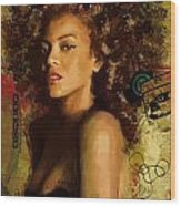 Beyonce Wood Print by Corporate Art Task Force