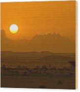 Beyond The Morning Light Wood Print