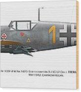Bf 109f-4 W.nr.7420. Staffelkapitan 9./jg 52 Oblt. Hermann Graf. May 1942. Charkow-rogan. Wood Print