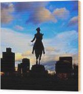George Washington Statue - Boston Wood Print by Joann Vitali