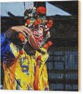 Bian Jiang Dancer Acanthus Wood Print