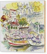 Biarritz 11 Wood Print