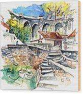 Biarritz 18 Wood Print