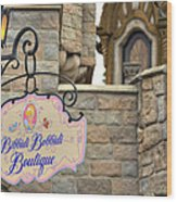 Bibbidi Bobbidi Boutique Wood Print