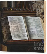 Bible Open On A Lectern Wood Print