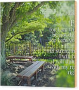 Bible Verse 01 Wood Print