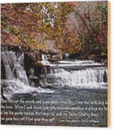 Bible Verse And Inspirational Greeting Card Autumn Fine Art Photography Prints And Posters. Wood Print