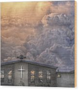 Biblical Sunset Wood Print