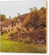 Bibury Almhouses Wood Print