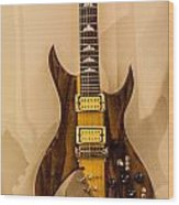 Bich Electric Guitar Colored Wood Print