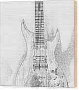 Bich Electric Guitar Sketch Wood Print