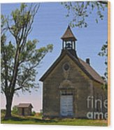 Bichet School In Marion County In Kansas Wood Print