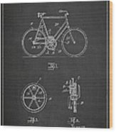 Bicycle Gear Patent Drawing From 1922 - Dark Wood Print