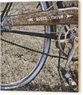 Bicycle Gears Wood Print by Debra and Dave Vanderlaan