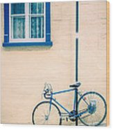 Bicycle On The Streets Of Old Quebec City Wood Print