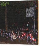 Bicycle Parking In Haarlem Wood Print
