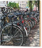 Bicycle Parking Lot Wood Print
