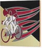 Bicycle Rider 01 Wood Print