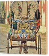 Bicycle Rikshaw - Kumbhla Mela - Allahabad India 2013 Wood Print