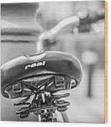 Bicycle Seat.  Wood Print